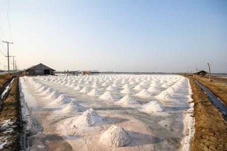 briny: Salt fields, Phetchaburi, Thailand.