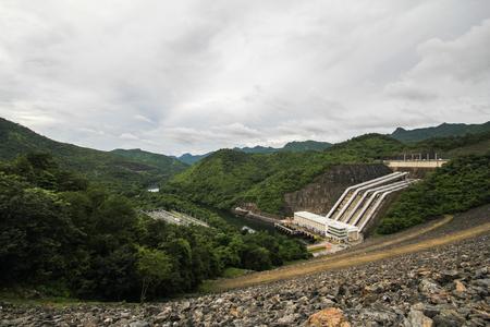 electric power station: Electric power station at the Srinakarin Dam, Kanchanaburi, Thailand