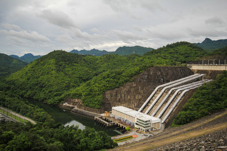 electric power station: Electric power station at the Srinakarin Dam, Kanchanaburi, Thailand