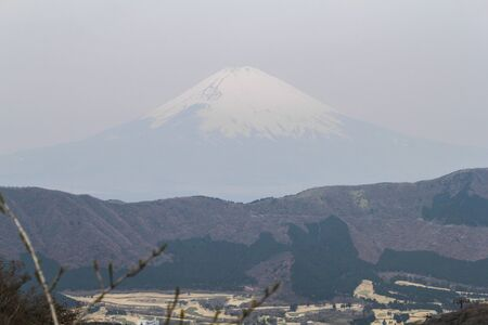 fuji san: View of Mt.Fuji from Hakone, Japan Stock Photo