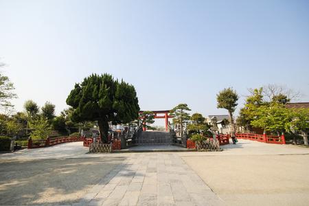hachimangu: Tsurugaoka Hachimangu shrine, Most important Shinto shrine in the city of Kamakura, Japan