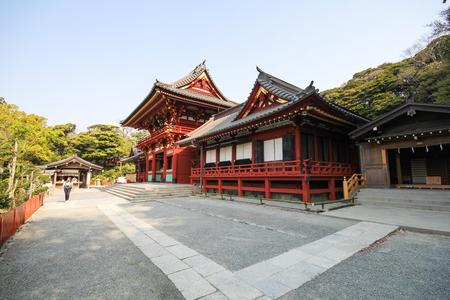 Tsurugaoka Hachimangu shrine, Most important Shinto shrine in the city of Kamakura, Japan