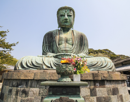 The big Buddha, Daibutsu, in Kamakura, Japan