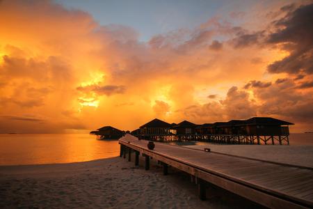 hospedaje: View of Vilamendhoo island in the Indian Ocean Maldives