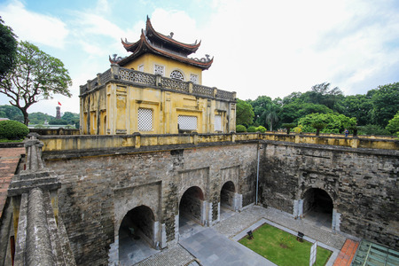 UNESCO World Heritage Site, Imperial Citadel of Thang Long in Hanoi, Vietnam Stock Photo