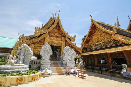 Wat Sanpa Yang Luang, Lamphun, Thailand Stock Photo
