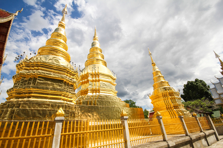 Wat Phra That Ha Duang, Lamphun Thailand Stock Photo