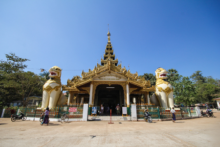 Shwethalyaung Reclining Buddha in Bago, Myanmar