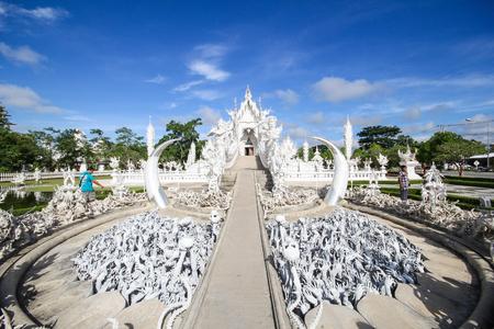 Rong Khun temple, Wat Rong Khun, White temple, Chiangrai Thailand Editorial