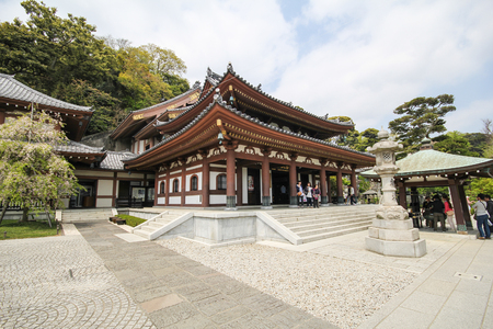 Hasedera temple, The famous temple in the city of Kamakura, Japan