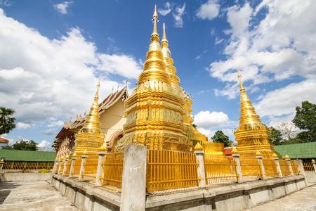 Wat Phra That Ha Duang, Lamphun Thailand 写真素材