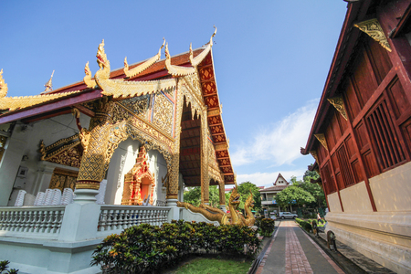 Beautiful temple at Chiang Mai, Thailand