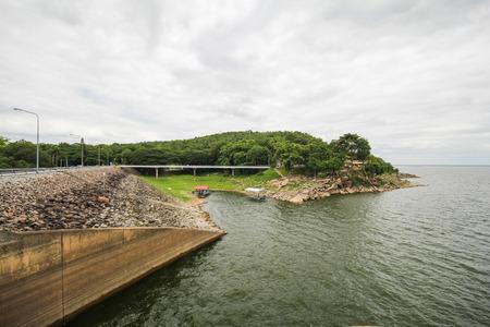 Ubonrat Dam, Khon Kaen, Thailand 版權商用圖片