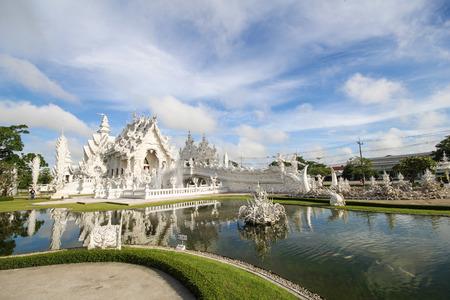 Rong Khun temple, Wat Rong Khun, White temple, Chiangrai Thailand Stock Photo