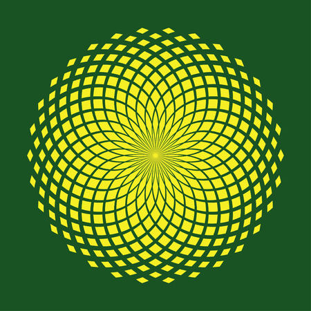 center of flower pattern in vector illustration