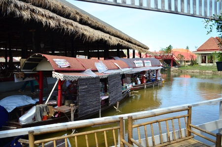 huahin: Floating market in Hua Hin, Thailand, there are merchant boats floating along the canal sell food and drink Editorial