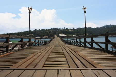 The old wooden bridge Bridge  photo