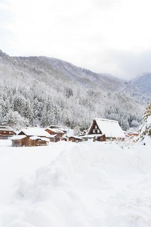 gassho zukuri: Historic Village of Shirakawa-go in winter, Japan.