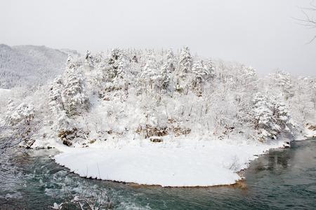 ogimachi: Shogawa River Valley in the remote mountains at Shirakawa-g�?