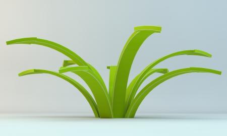 Une fl�che verte