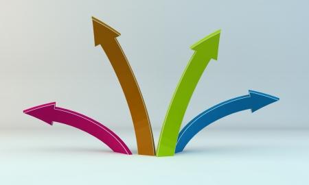 색 화살표 스톡 사진