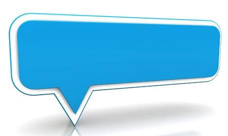Ballon bleu sur un fond blanc
