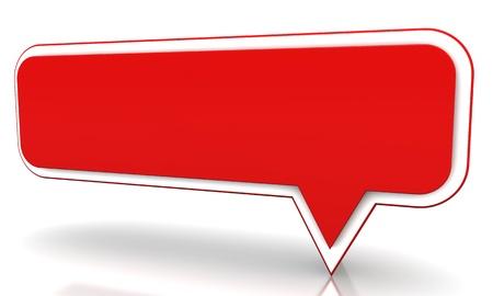 Ballon rouge sur un fond blanc