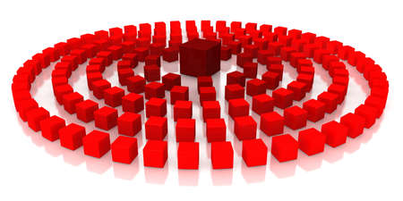 Red cubes on a white background Stock Photo - 15705441