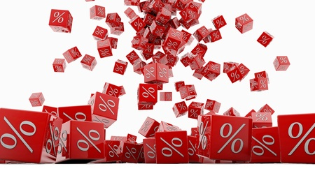 Discount cubes on a white background Stock Photo - 15705469
