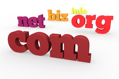 The best-known domains, 3d format Stock Photo - 15705430