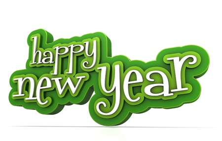 Happy new year on white background Stock Photo - 15705439