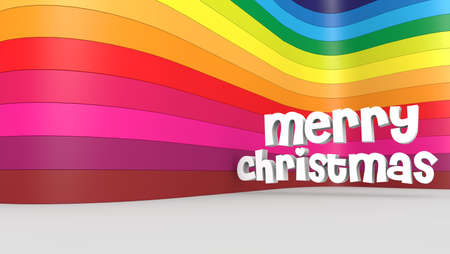 Merry christmas and a colorful backdrop Stock Photo - 15705461