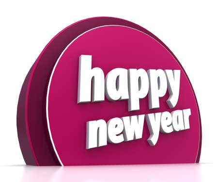 Happy new year on white background Stock Photo - 15705457