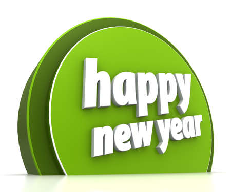 Happy new year on white background Stock Photo - 15705405
