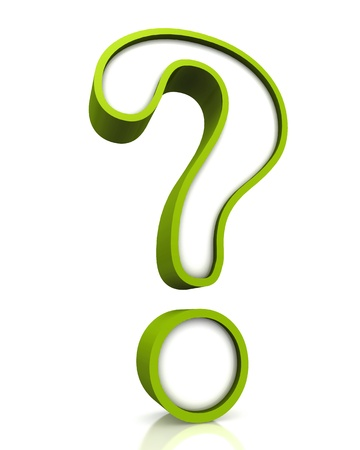 Question mark on a white background Stock Photo