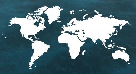 Carte 3d du monde et de la mer