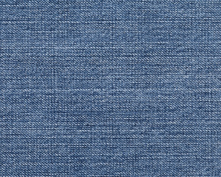 High quality texture of the blue jeans, the high accuracy of the details