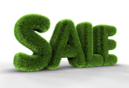 Grass sale word isolated on white background, 3D rendering Stock Photo - 8522577