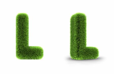 Gras Letter l, isolated on white background