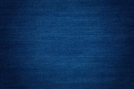 Dark Blue Denim Hintergrund, detaillierte Texturen mit Vignette