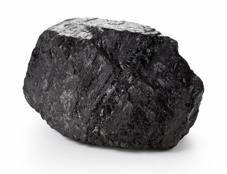 Große Klumpen Kohle auf weißem Hintergrund