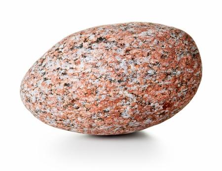 Big granite stone on white background, studio shot photo