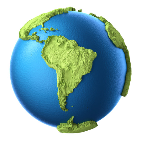 argentina map: Globe 3d isolated on white background.