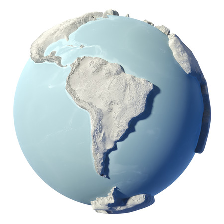 argentina map: Winter earth isolated on white background.