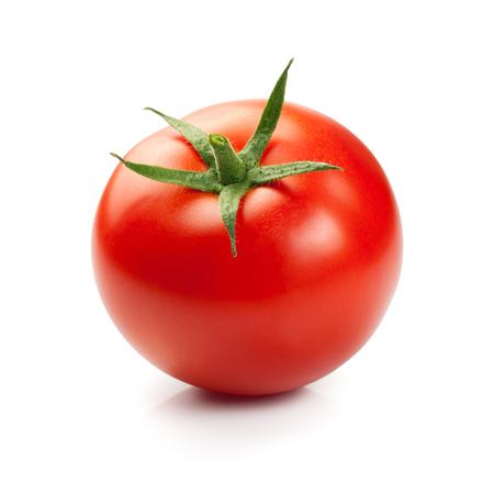 vegetables on white: Fresh red tomato isolated on white background Stock Photo