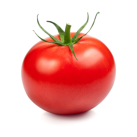 Fresh red tomato isolated on white background Stockfoto