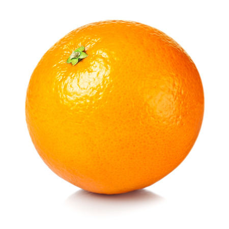 white isolated: Fresh orange isolated on white background