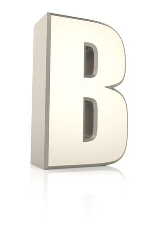 ecru: Letter B isolated on white background. 3d render Stock Photo