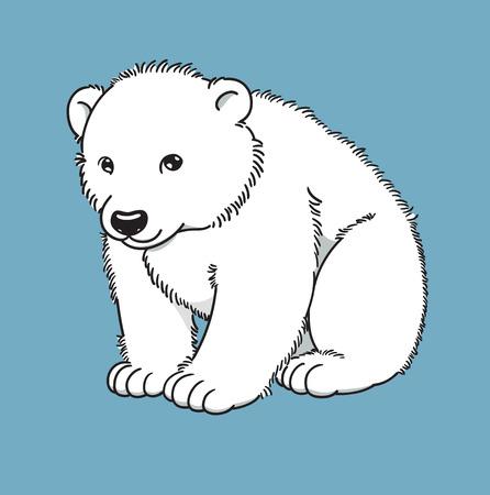 Cartoon of cute polar bear