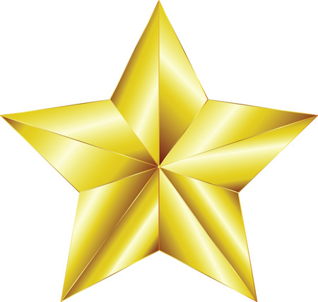 Golden star 免版税图像 - 34041824